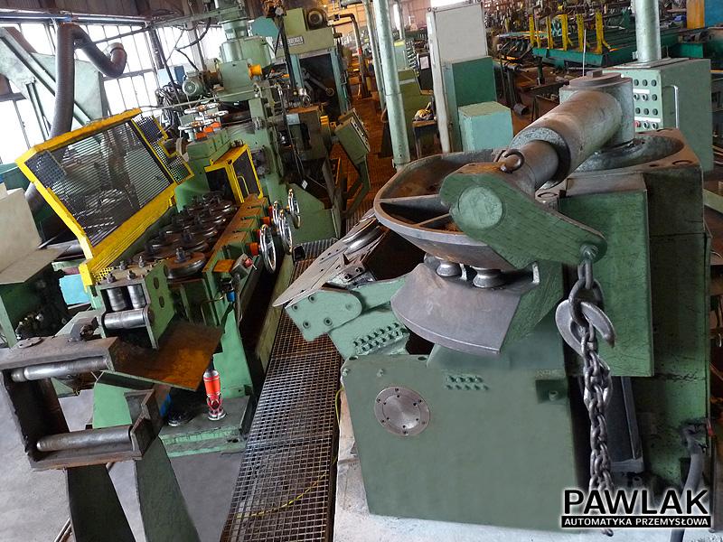 Ciągarnia stali, linia do łuszczenia, szlifowania i polerowania drutu
