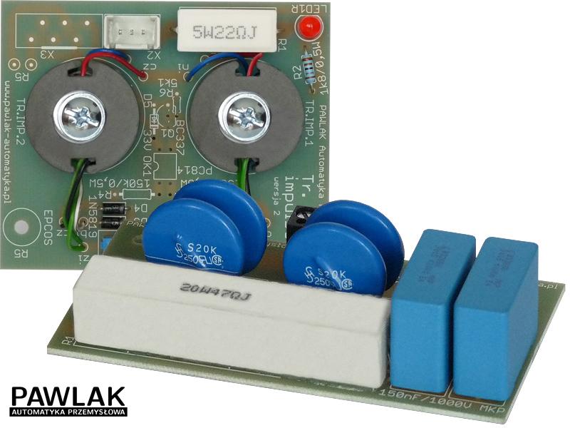 Filtr RC i transformatory impulsowe do bloków tyrystorowych