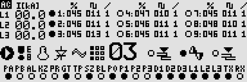 Ekran regulatora mocy i czasu zgrzewania dla zgrzewarek wielopunktowych